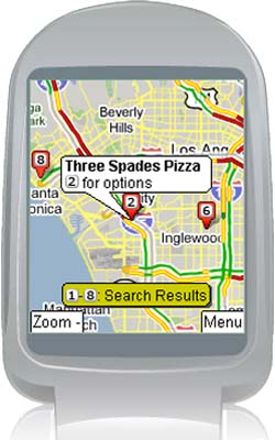 Работать с картами Google можно будет с помощью мобильного телефона LG