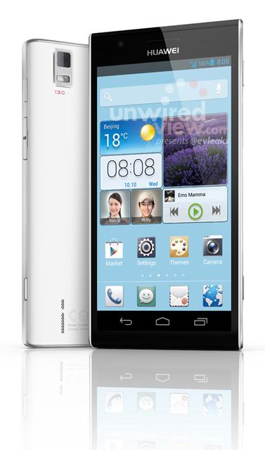 Появились полуофициальные фото смартфона Huawei Ascend P2.