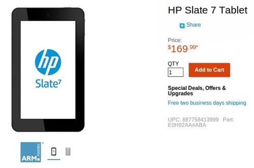 HP Slate 7 - недорогой Андроид планшет